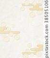 일본식 모던 구름 국화 (종이 질감) 38505106