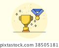 Golden Cup Success Symbol Background 38505181