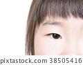 여자의 얼굴의 업 38505416