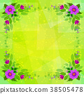 Flowers on Abstract Background 38505478