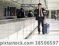 商人在機場 38506597