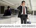 商人在機場 38506603