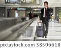 商人在機場 38506618