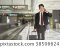 商人在機場 38506624