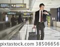 商人在機場 38506656
