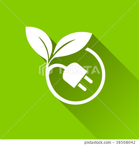 eco plug icons with shadow 38508042