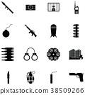 terrorism icon set 38509266