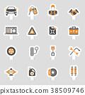 Car Service Vector Icons Sticker Set 38509746