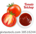 tomato ketchup suace in dish with tomato 38510244