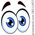 cartoon pair of eyes 38511057
