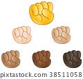 Raised fist hand emoji 38511058