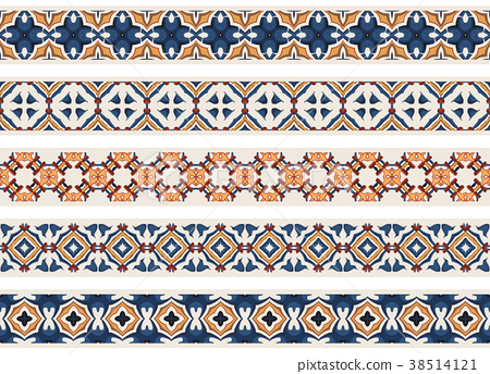 Seamless decorative borders 38514121