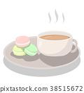 Afternoon tea set with Macarons. 38515672