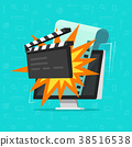 Movie or online cinema on computer concept vector 38516538