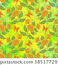 Seamless Pattern, Flowers and Butterflies 38517729