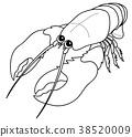 อาหารทะเล,กุ้ง,น่ารัก 38520009