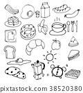 Hand Drawing Breakfast Doodle Vector 38520380