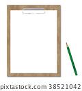 剪貼板和鉛筆 38521042