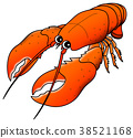 อาหารทะเล,กุ้ง,น่ารัก 38521168