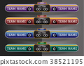 Soccer scoreboard Digital Screen Graphic Template 38521195