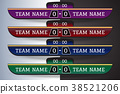 Soccer scoreboard Digital Screen Graphic Template 38521206