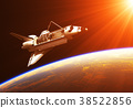 Space Shuttle In The Rays Of Rising Sun 38522856