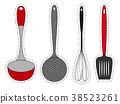 Set of stickers kitchen utensils. 38523261