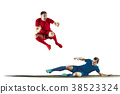 Professional football soccer players isolated 38523324
