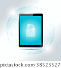 Cyber security concept with tablet 38523527