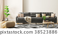 Interior of living room with sofa 3d rendering 38523886