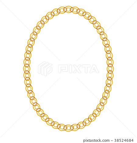 Gold Chain Jewelry on White Background. Vector 38524684