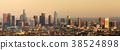 Los Angeles Panoramic Skyline Sunset 38524898
