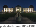 Exterior of Griffith Observatory at night 38524901
