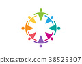 Colorful Abstract People Logo Design Illustration 38525307