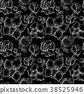 Floral pattern with Orchids. 38525946