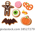 Halloween cookie symbols of food night cake party 38527279