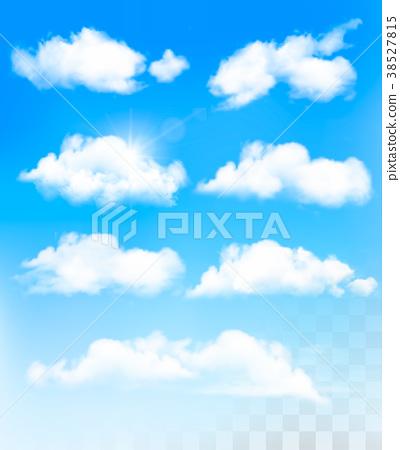 Set of transparent different clouds. Vector. 38527815