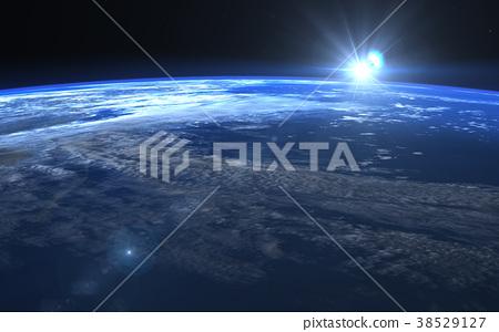 지구 일출 perming 3DCG 일러스트 소재 38529127