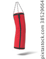 3d rendering of a red and black boxing bag looking 38529664