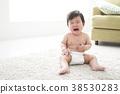 알몸으로 우는 7 개월 아기 38530283