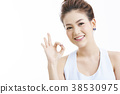 亞洲女人肖像系列手勢 38530975