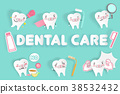 tooth with dental care 38532432