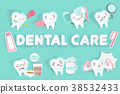 cartoon with dental care 38532433