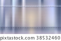 Metal background with texture and rivets, blurred 38532460