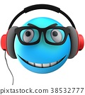 3d blue emoticon smile 38532777