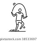 icon, sport, thin 38533697