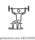 icon, sport, thin 38533699