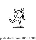 icon, sport, thin 38533709