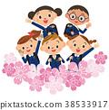 小學生 櫻花 櫻 38533917