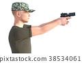 士兵 军人 枪 38534061